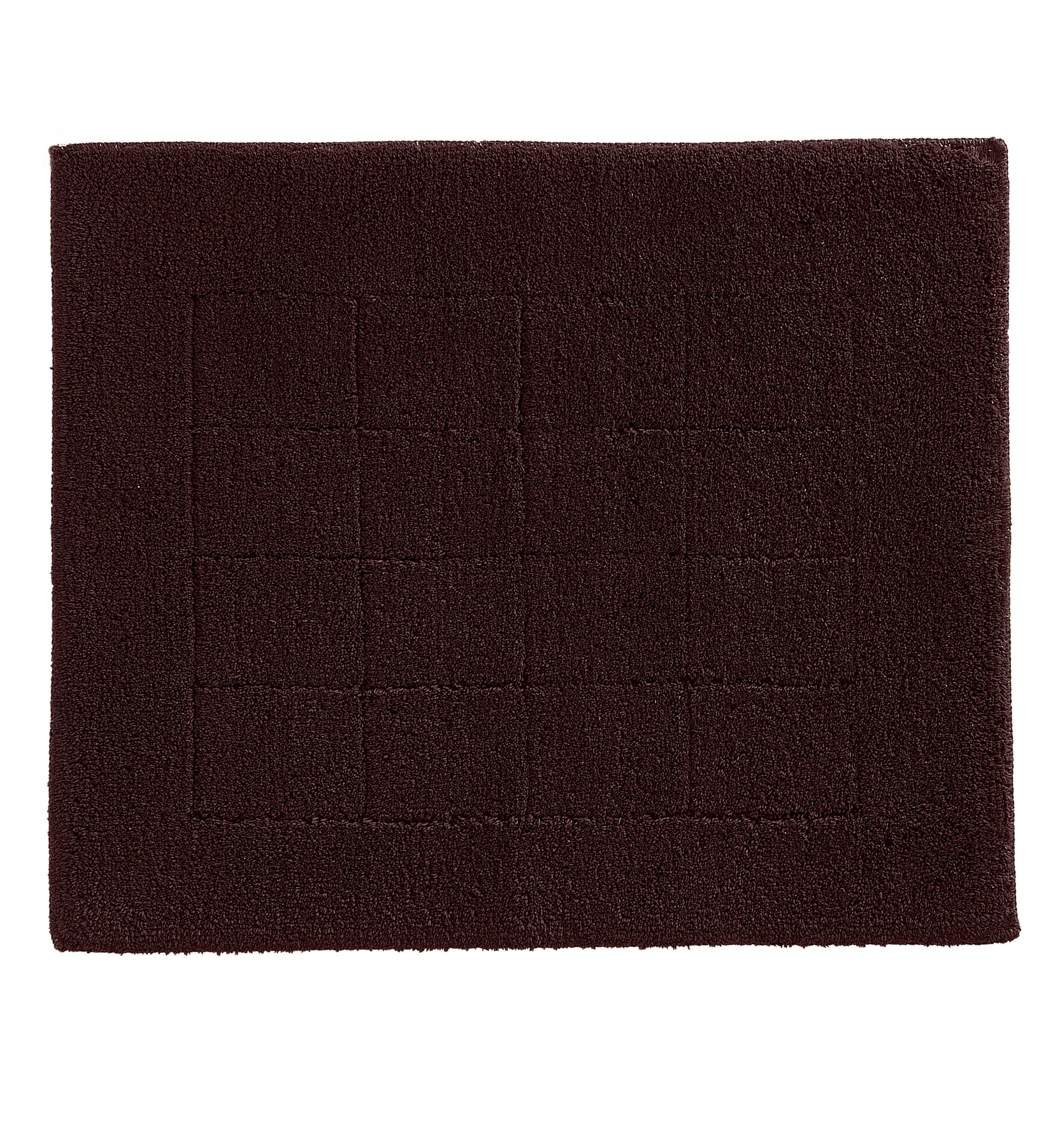 Exclusive bath mat range in chocolate