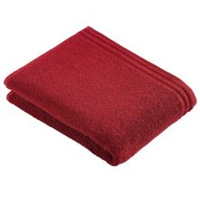 Calyso Feel bath towel range in ruby