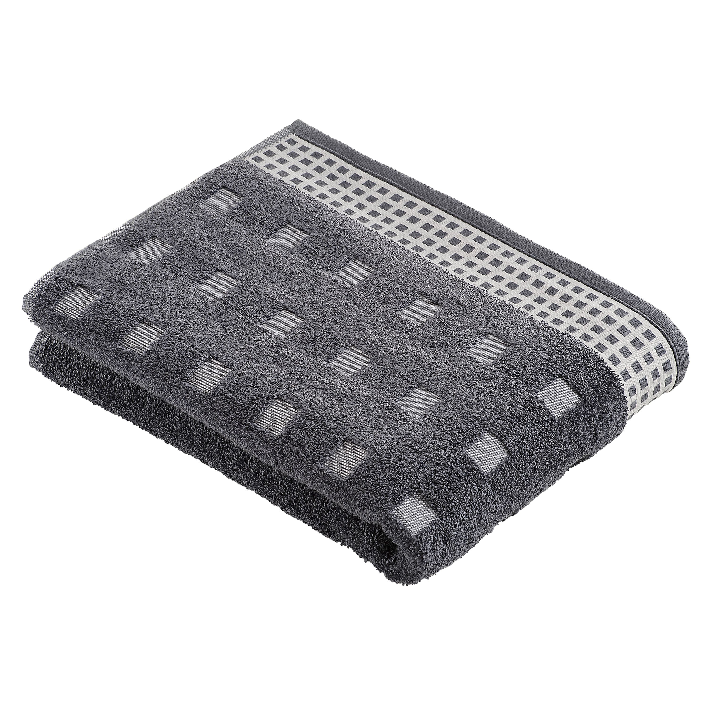 Country towel range in charcoal