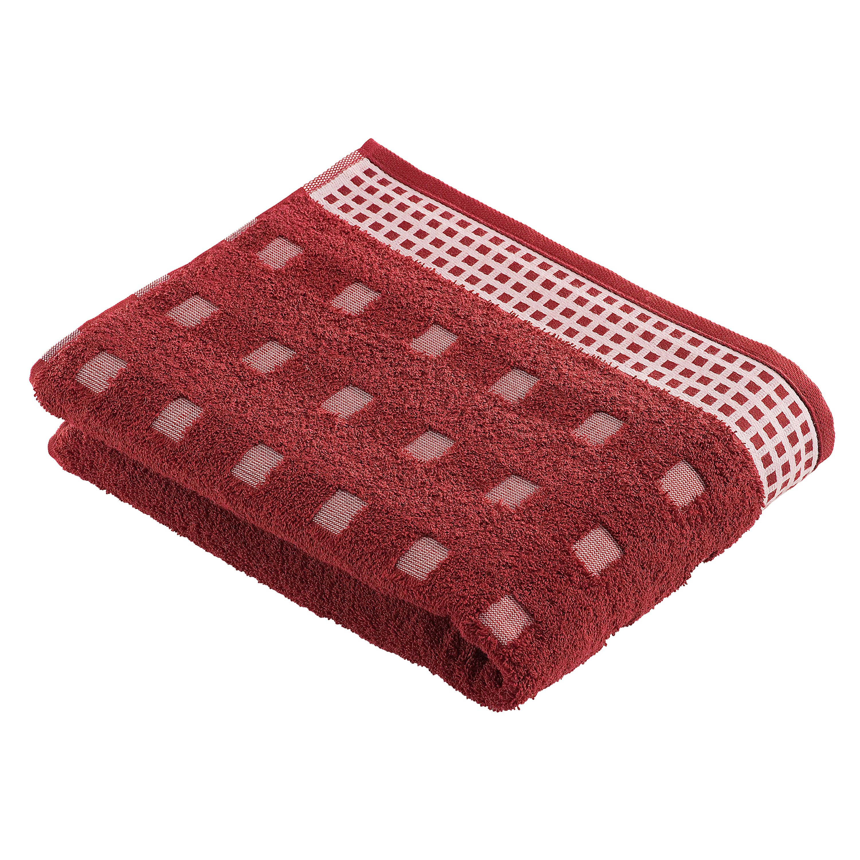 Country towel range in garnet