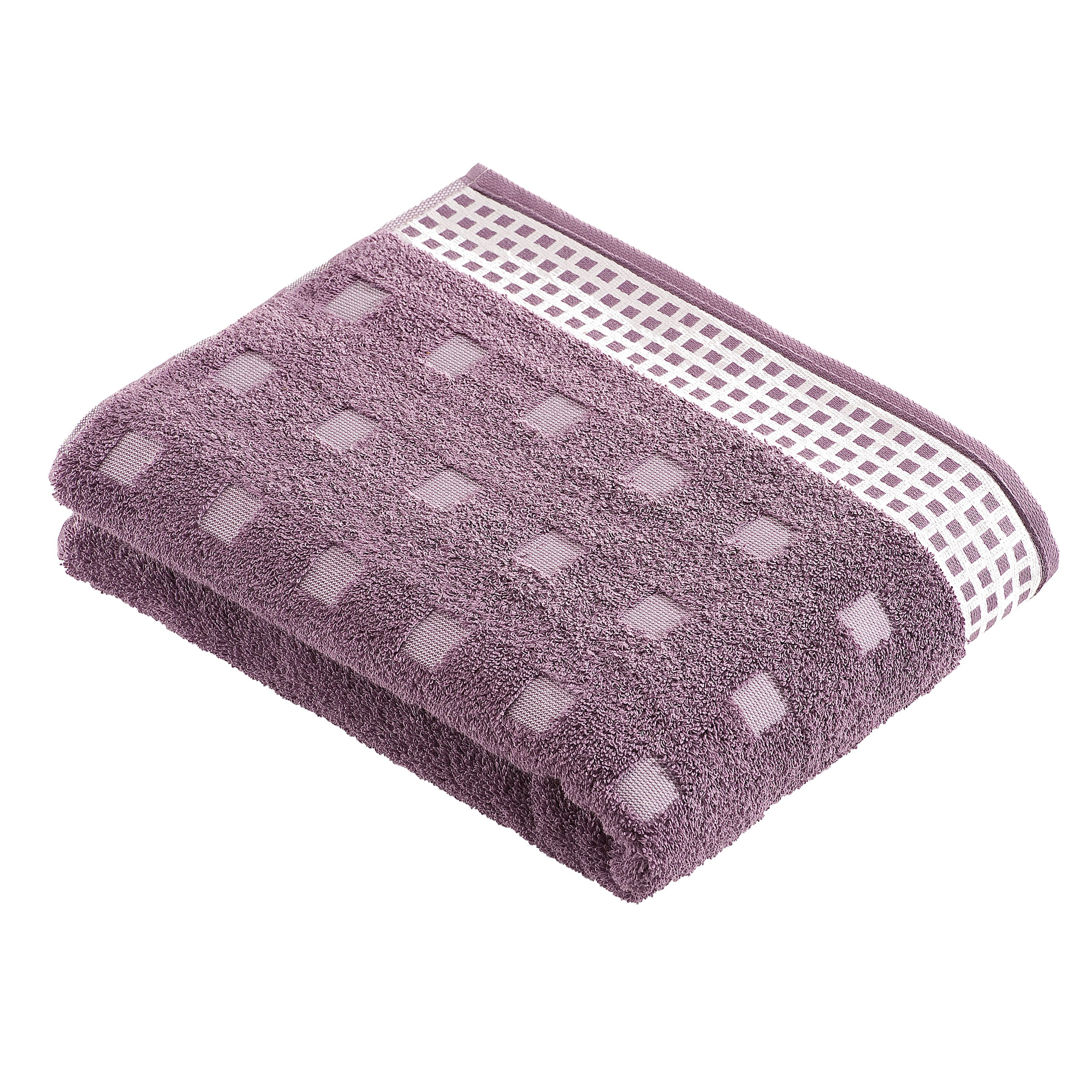 Country towel range in plum
