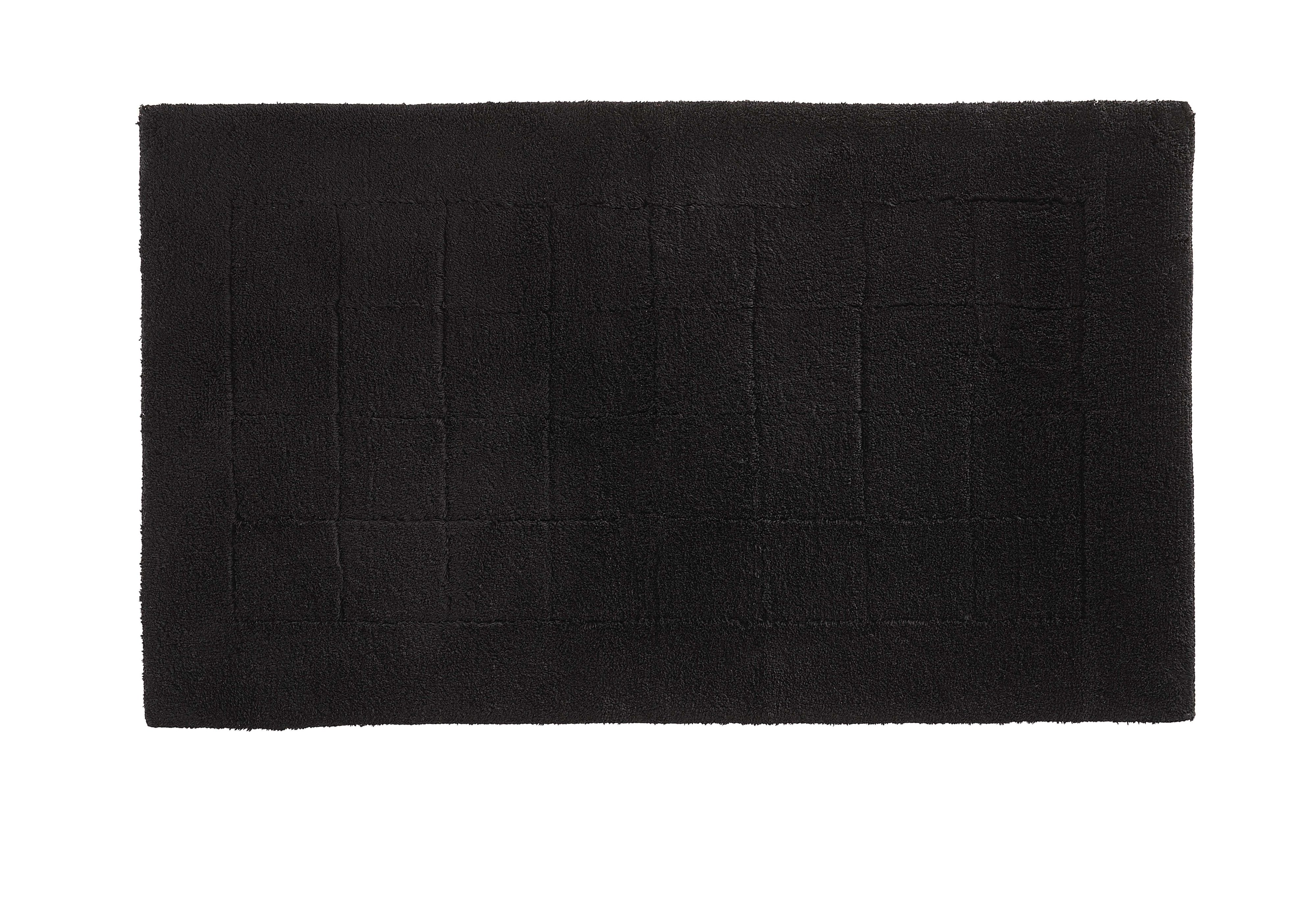 Exclusive bath mat range in black