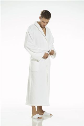 Weekend bath robe in white