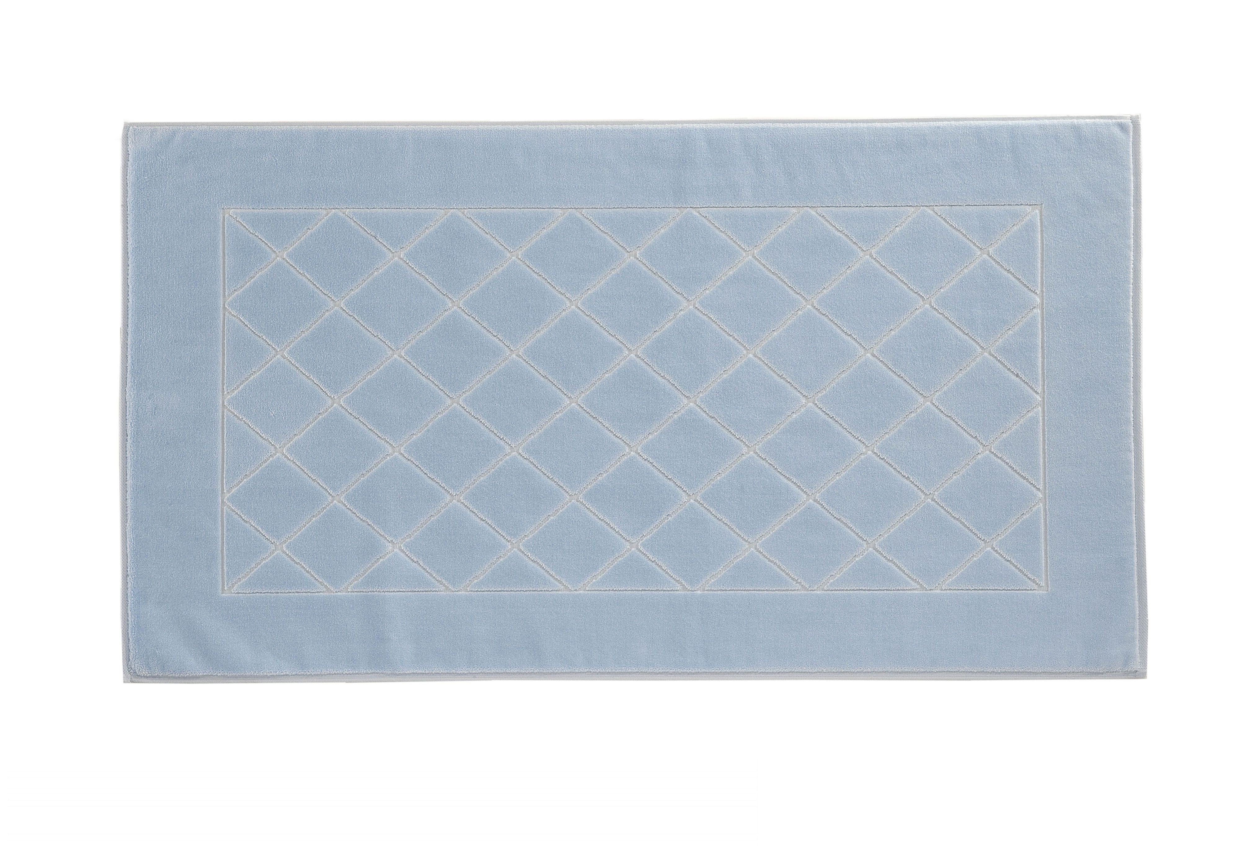 Dreams bath mat range in pale blue