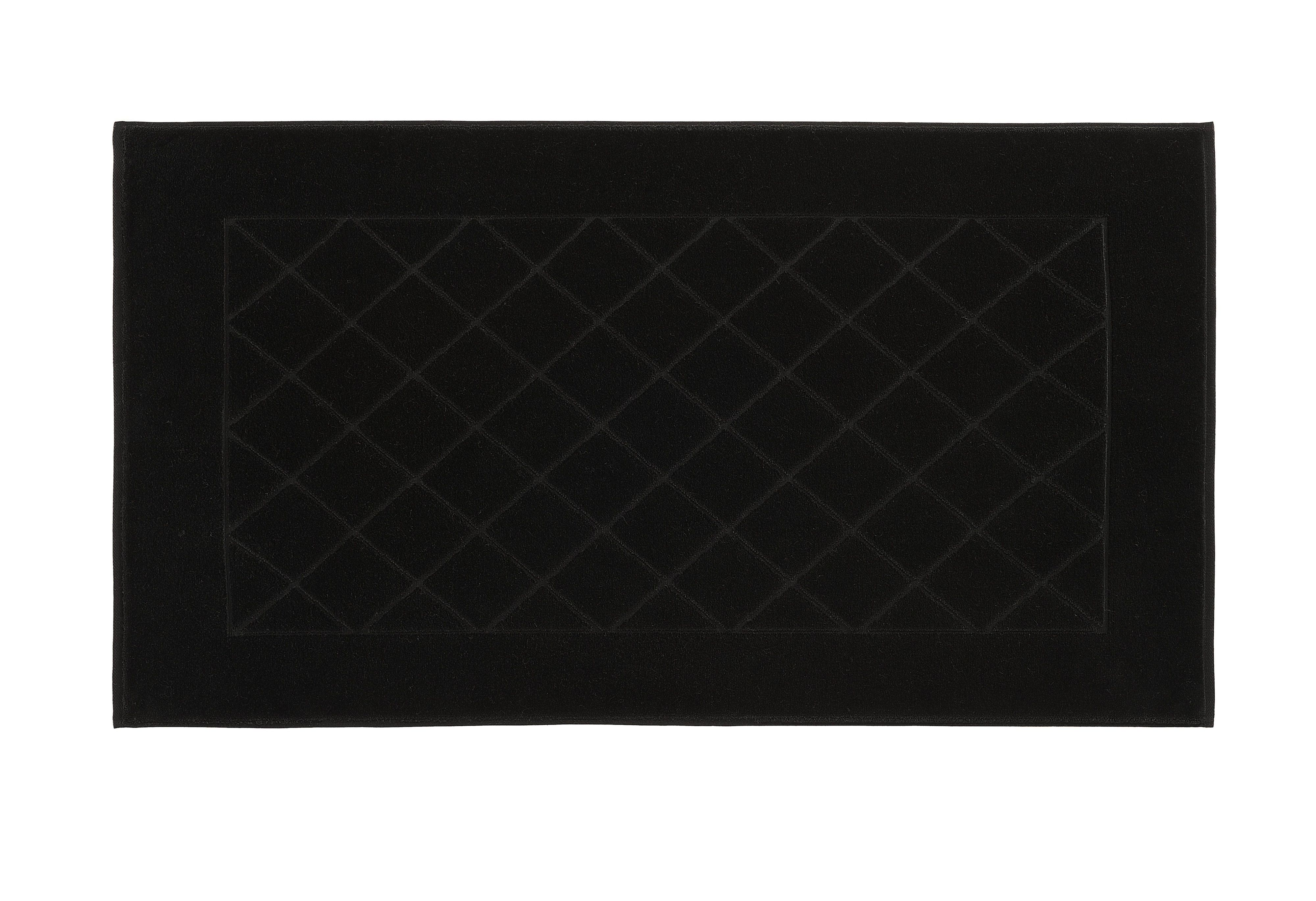 Dreams bath mat range in black
