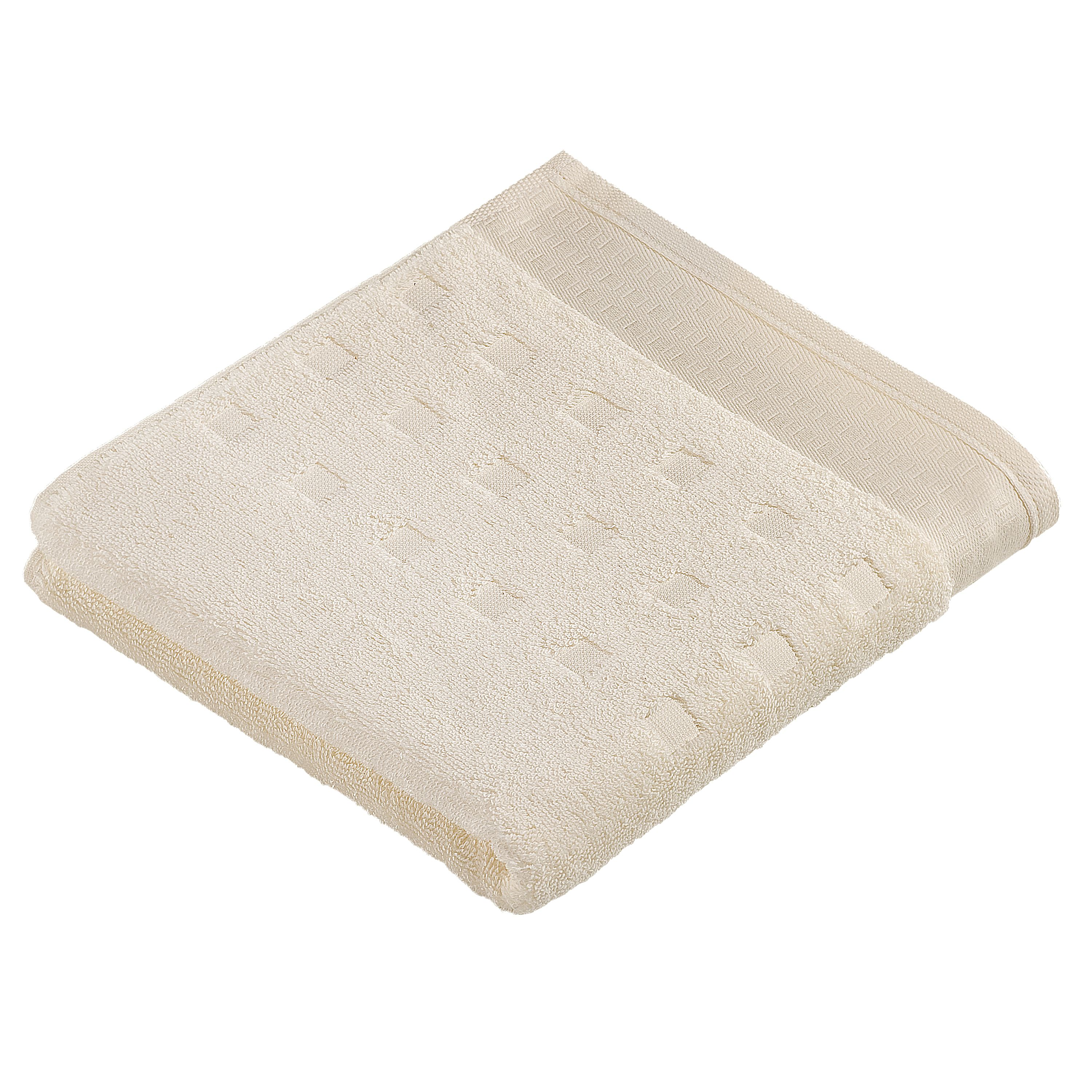 Country style  towels in ivory
