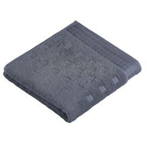 Vossen Country style  towels in charcoal