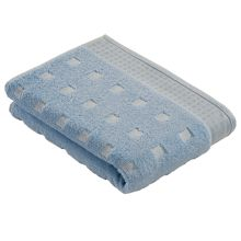 Country style  towels in pale blue