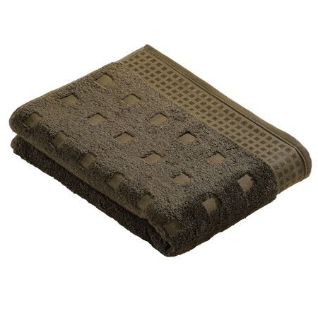 Vossen Country style bath sheet in mud green