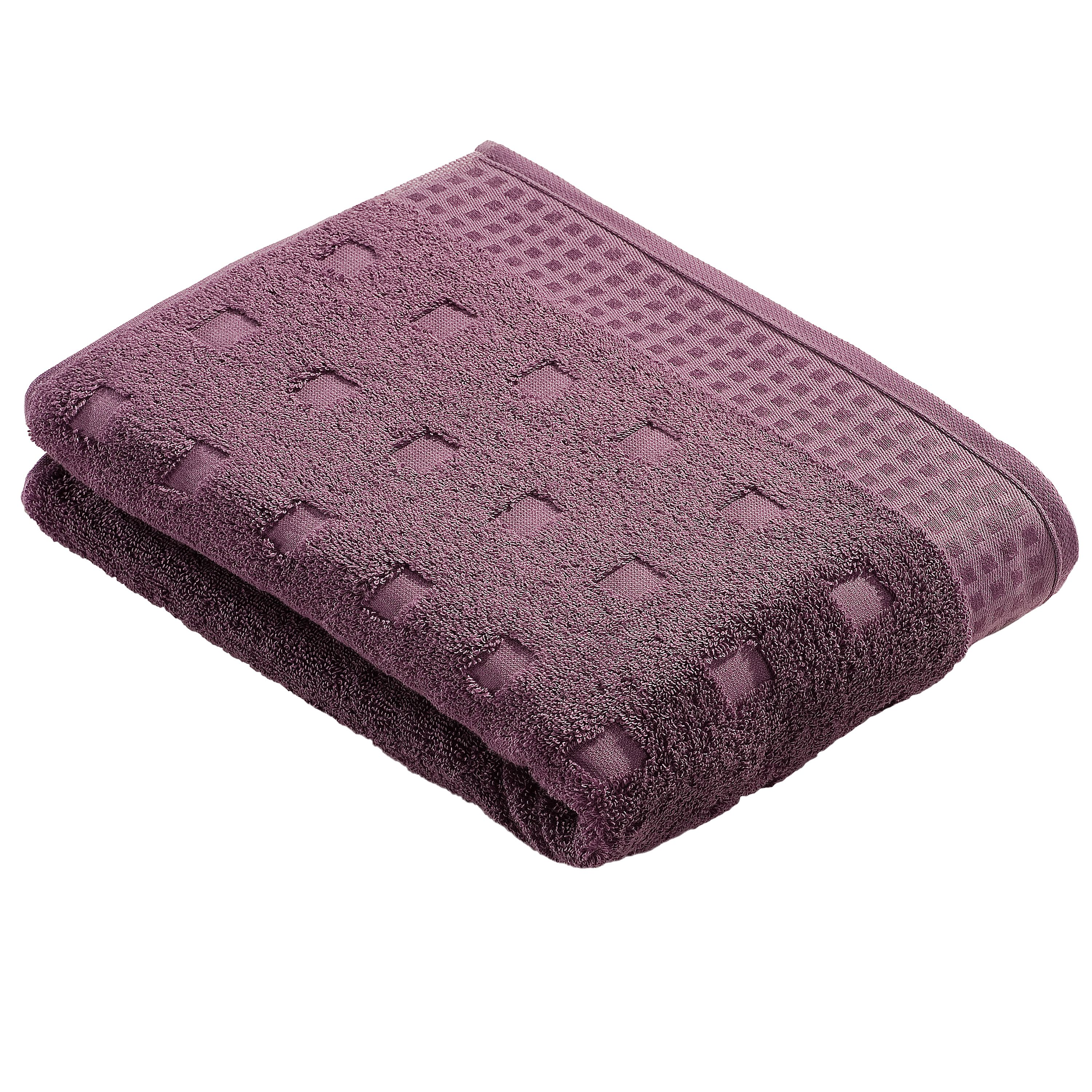 Country style  towels in plum