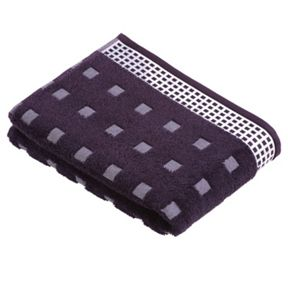 Vossen Country  towels in deep purple/ivory
