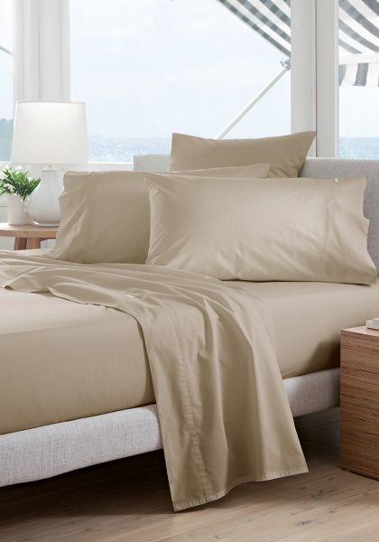 Sheridan Classic percale husk double fitted sheet