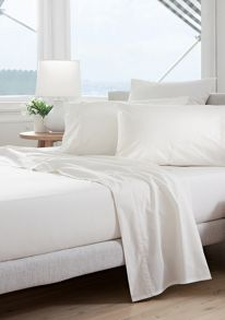 300TC Classic percale bed linen in snow