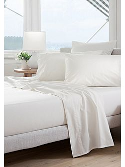 Classic percale snow double flat sheet