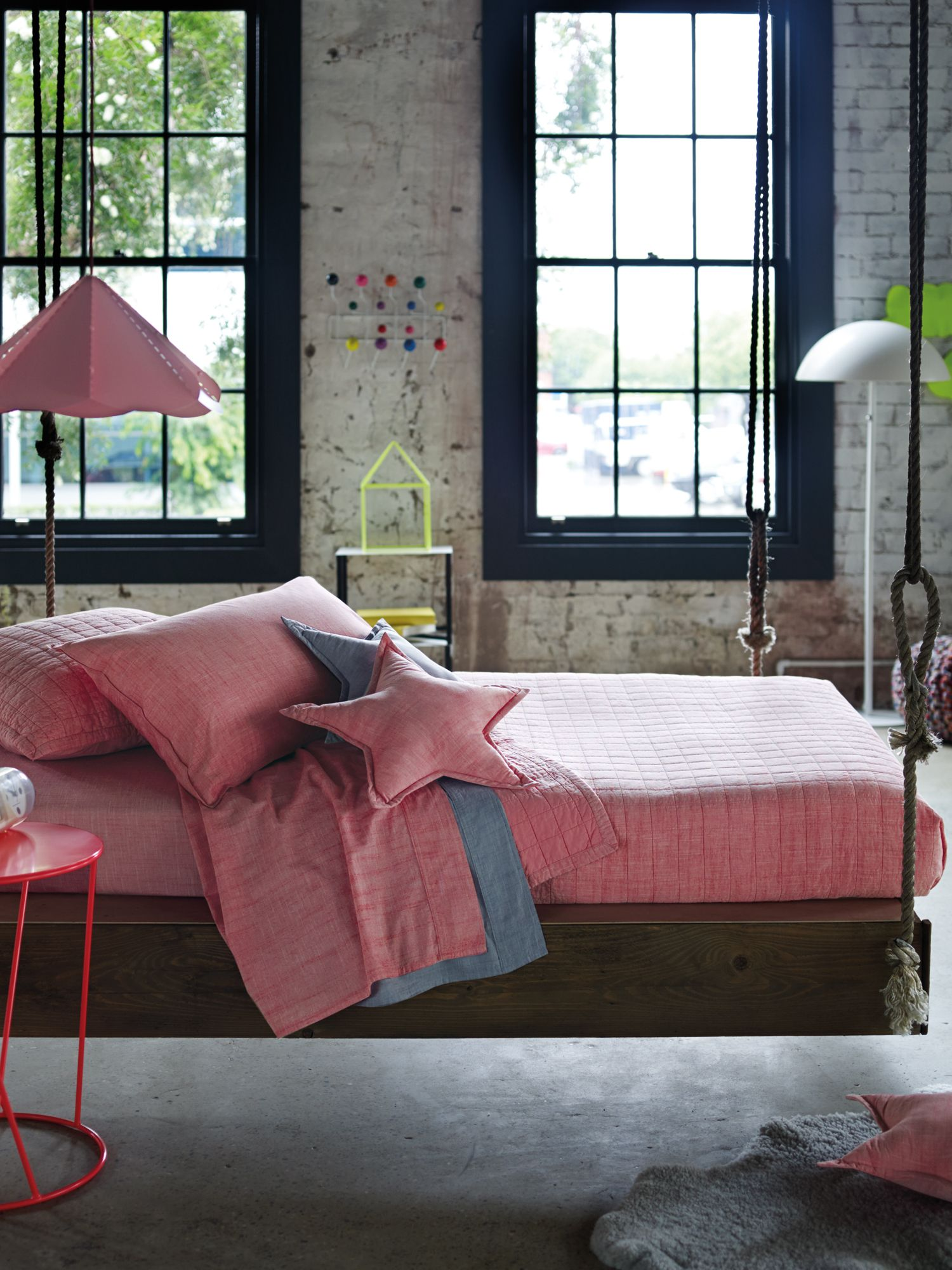 Reilly shell pink bed linen