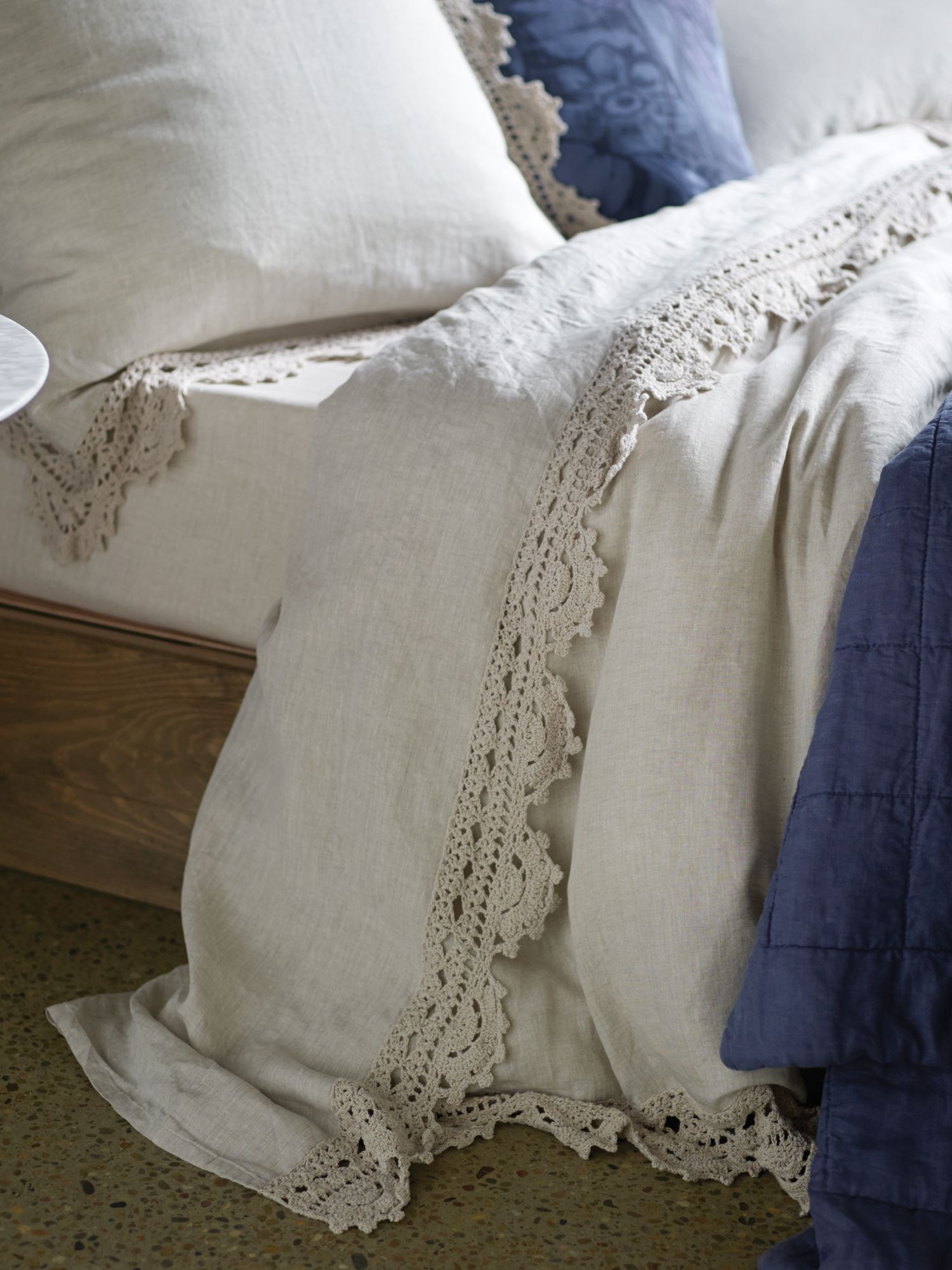 Evelina flax bed linen