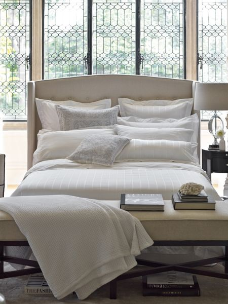 Sheridan Paulson snow double duvet cover, made in portugal