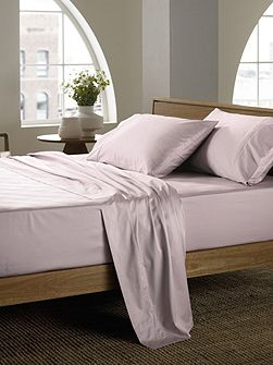 Soft sateen peat super king flat sheet, super