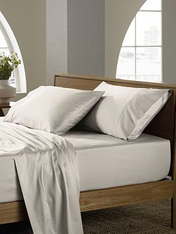 Soft sateen peat super king fitted sheet, super
