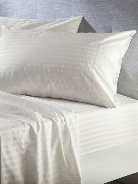 Sheridan Alford vanilla double fitted sheet