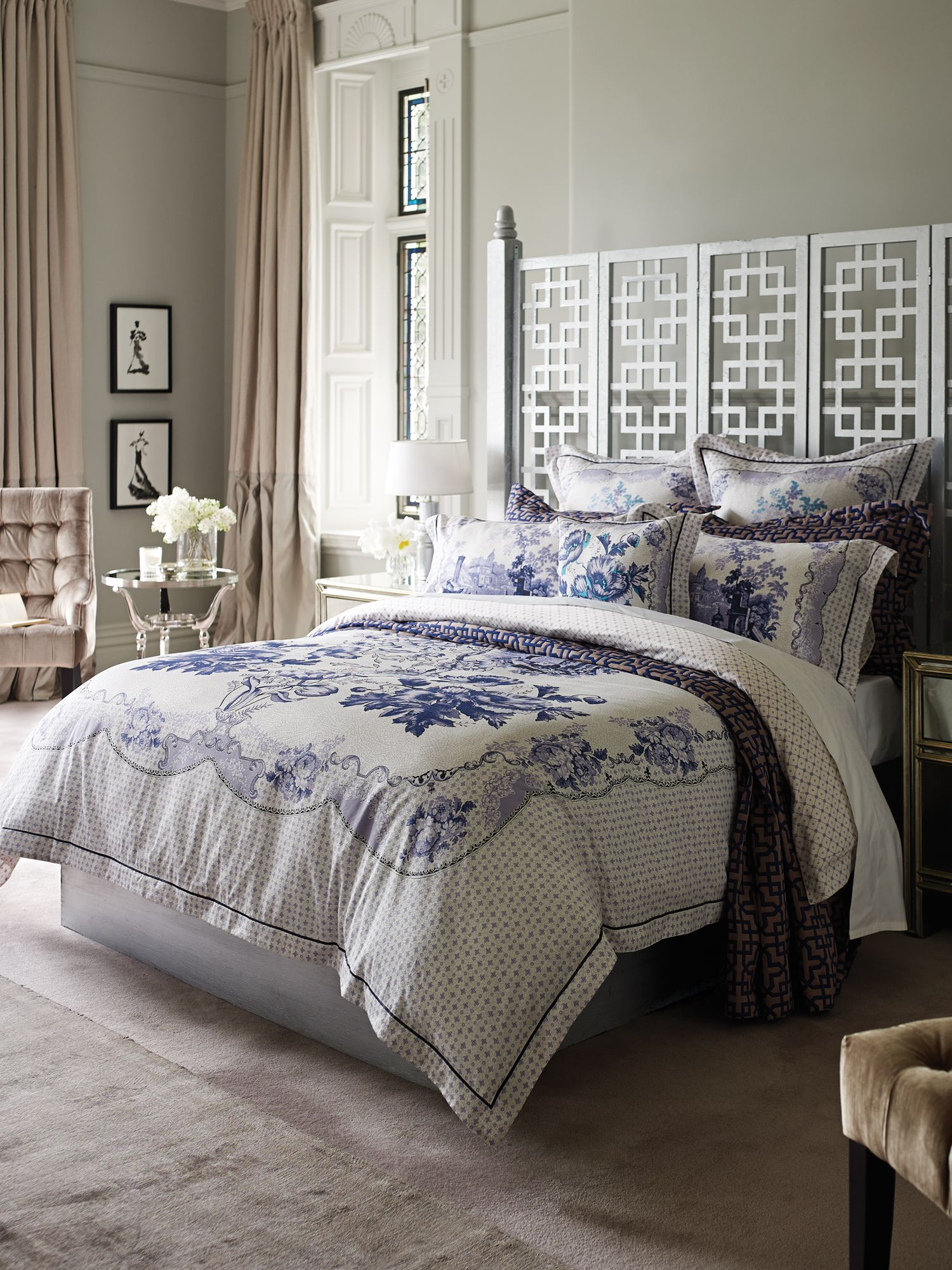 Copeland peacock bed linen