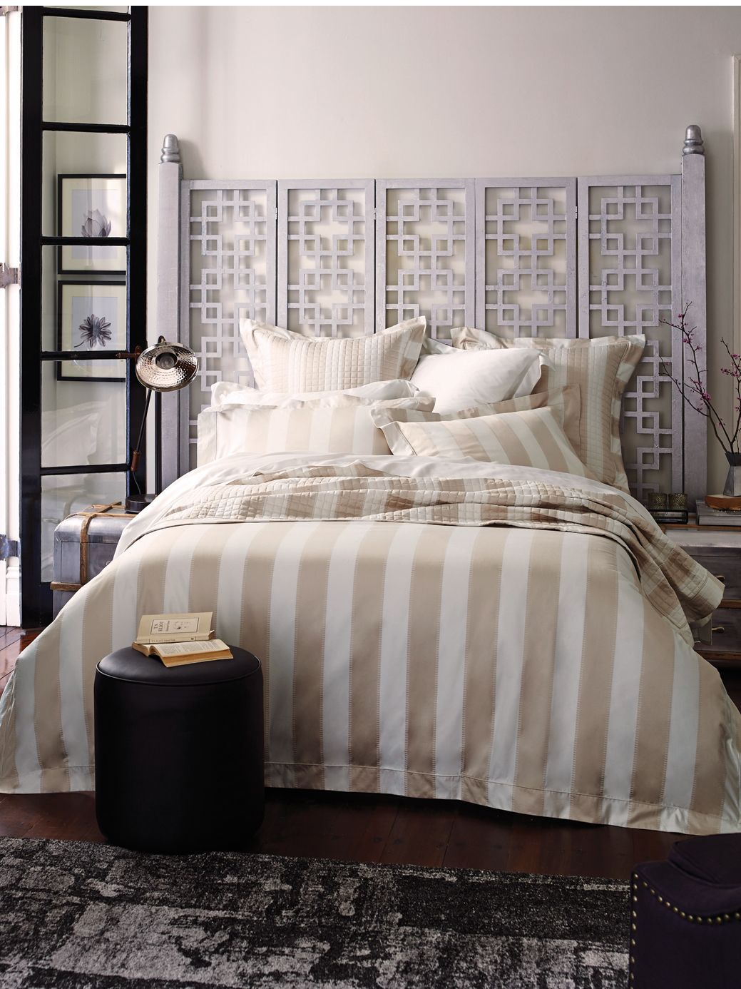 Smythson chalk double duvet cover 1000tc