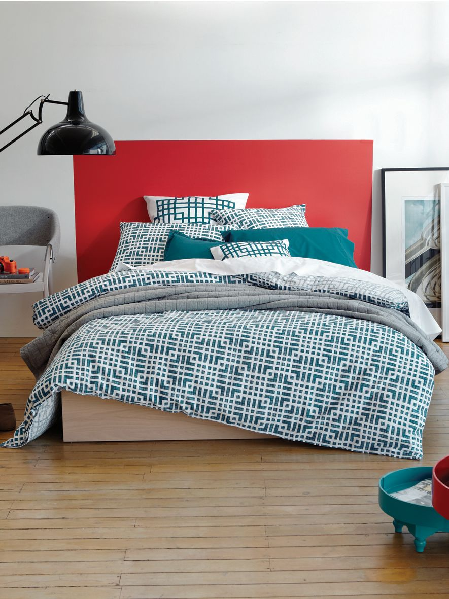 Tennyson kingfisher square pillowcase