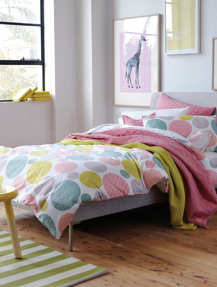 Addeline bed linen in marshmallow