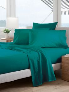 300tc kingfisher bed linen cotton