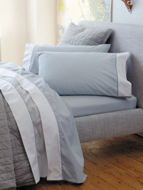 Sheridan Perry bed linen in chambray