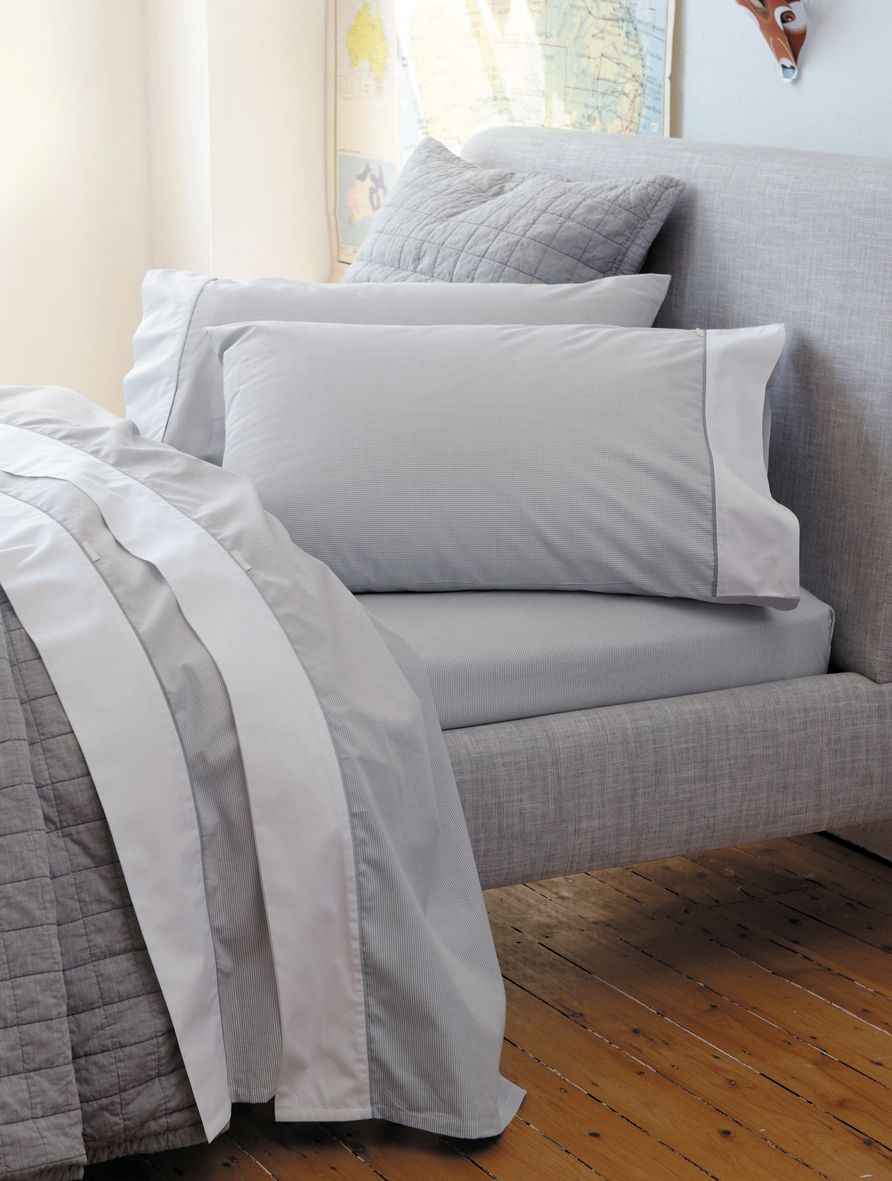 Perry bed linen in fog