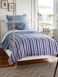 Bass chambray double duvet cover set