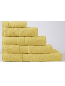Buttercup yellow towel range