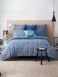 Elston denim housewife pillowcase pair