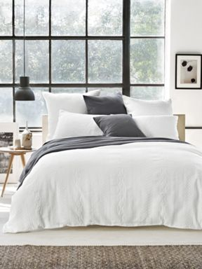 Sheridan Sewell bedding range in white