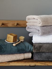 Luxury Retreat Sage bath towel range