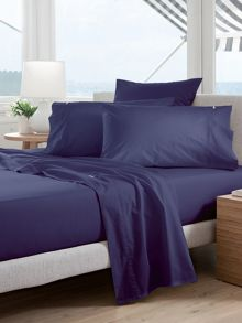 Classic Percale Deep Sea standard pillowcase pair