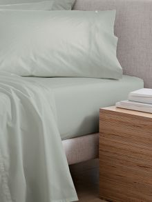 Classic Percale Sage bed linen range