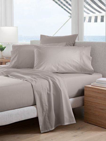 Sheridan Classic Percale Dove single flat sheet