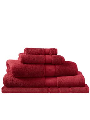 Sheridan Egyptian luxury scarlet towel range