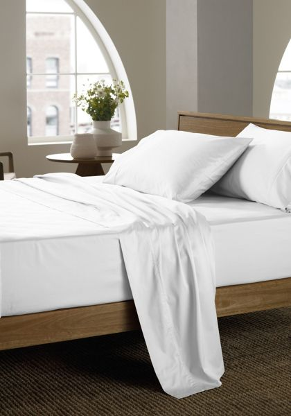 Sheridan 400 thread count snow single flat sheet
