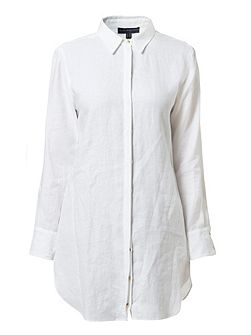 Robin long linen shirt