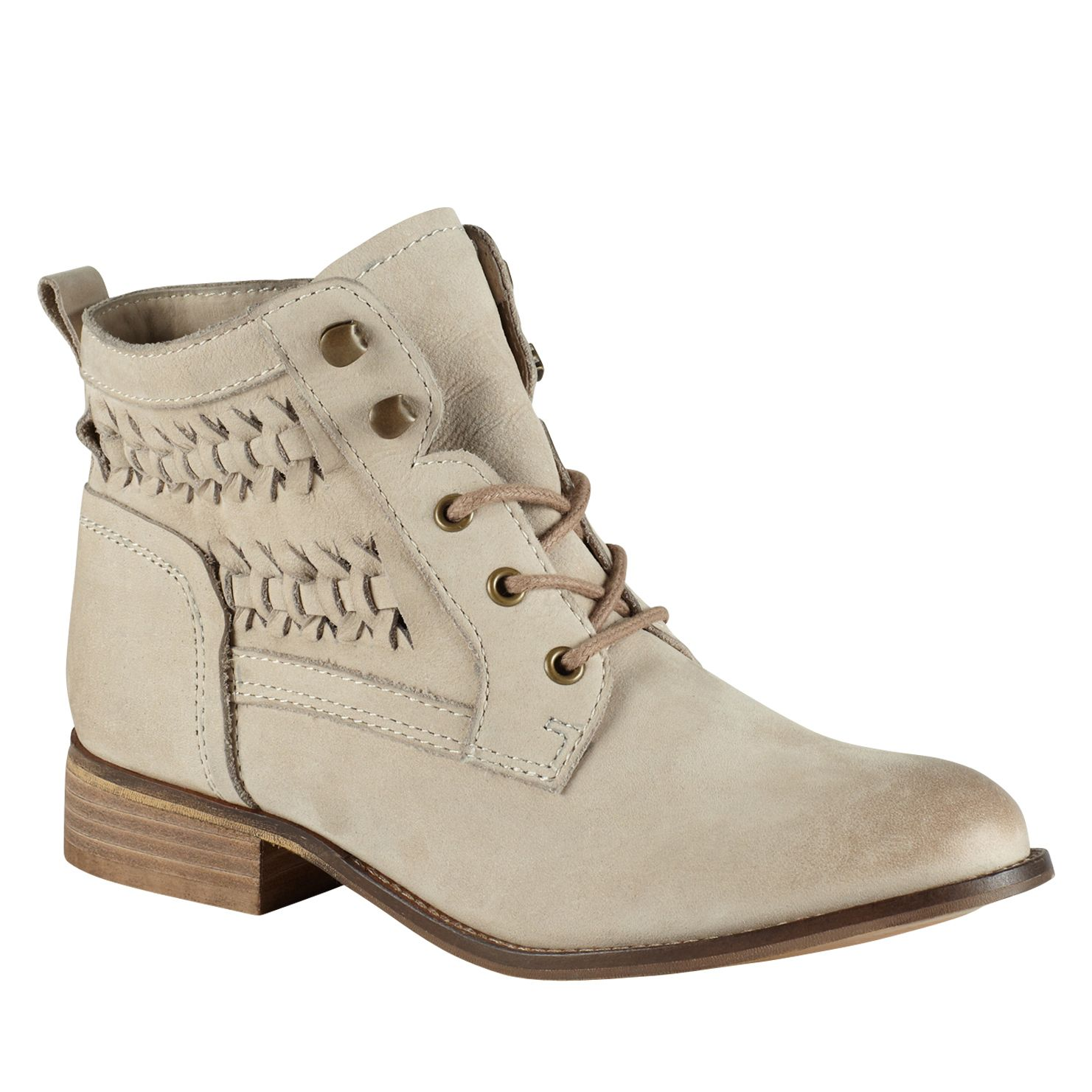 Wirasien almond toe lace up boots