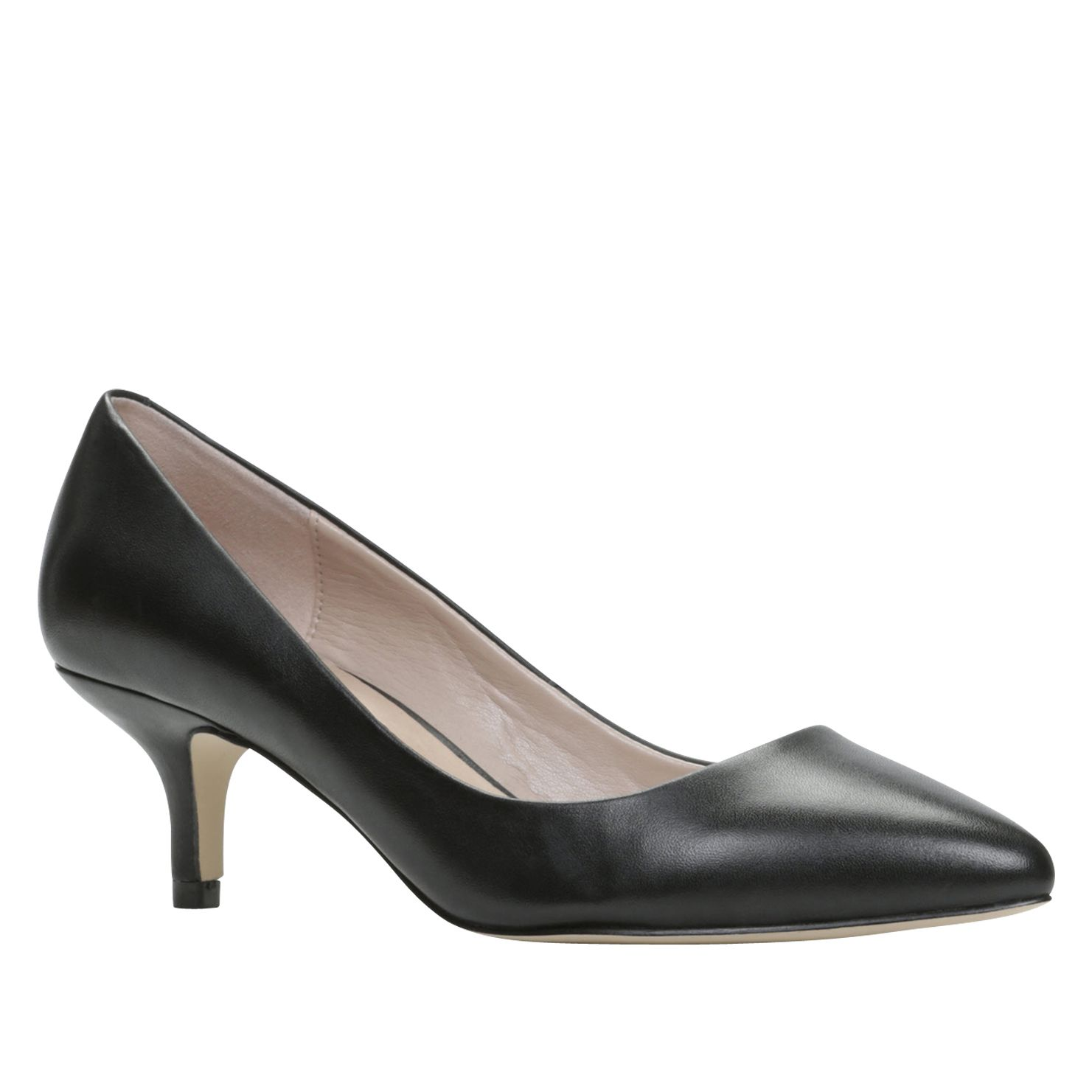 Casavecchie mid heel pointed toe court shoes