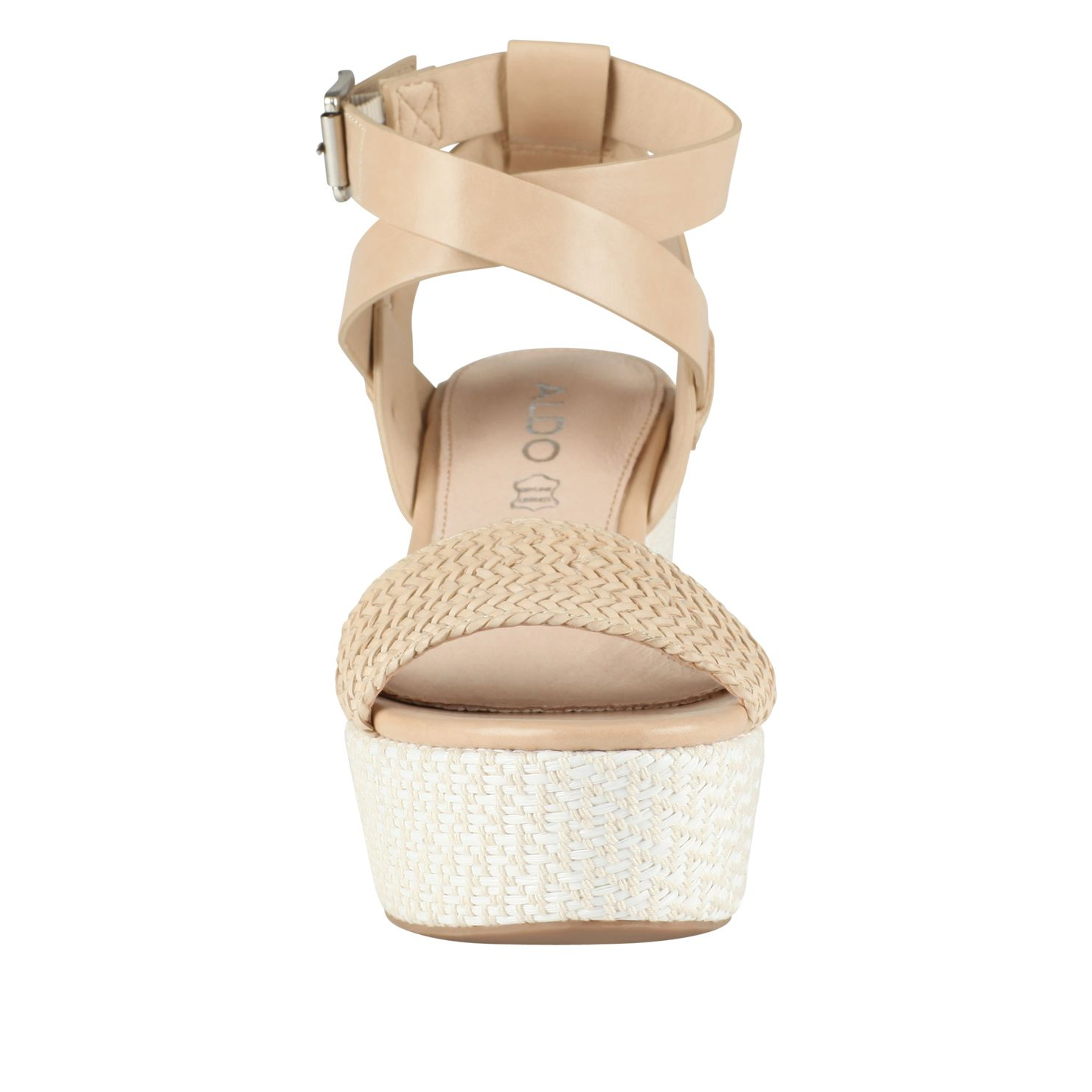 Zegliacco wedge strap high heel sandals
