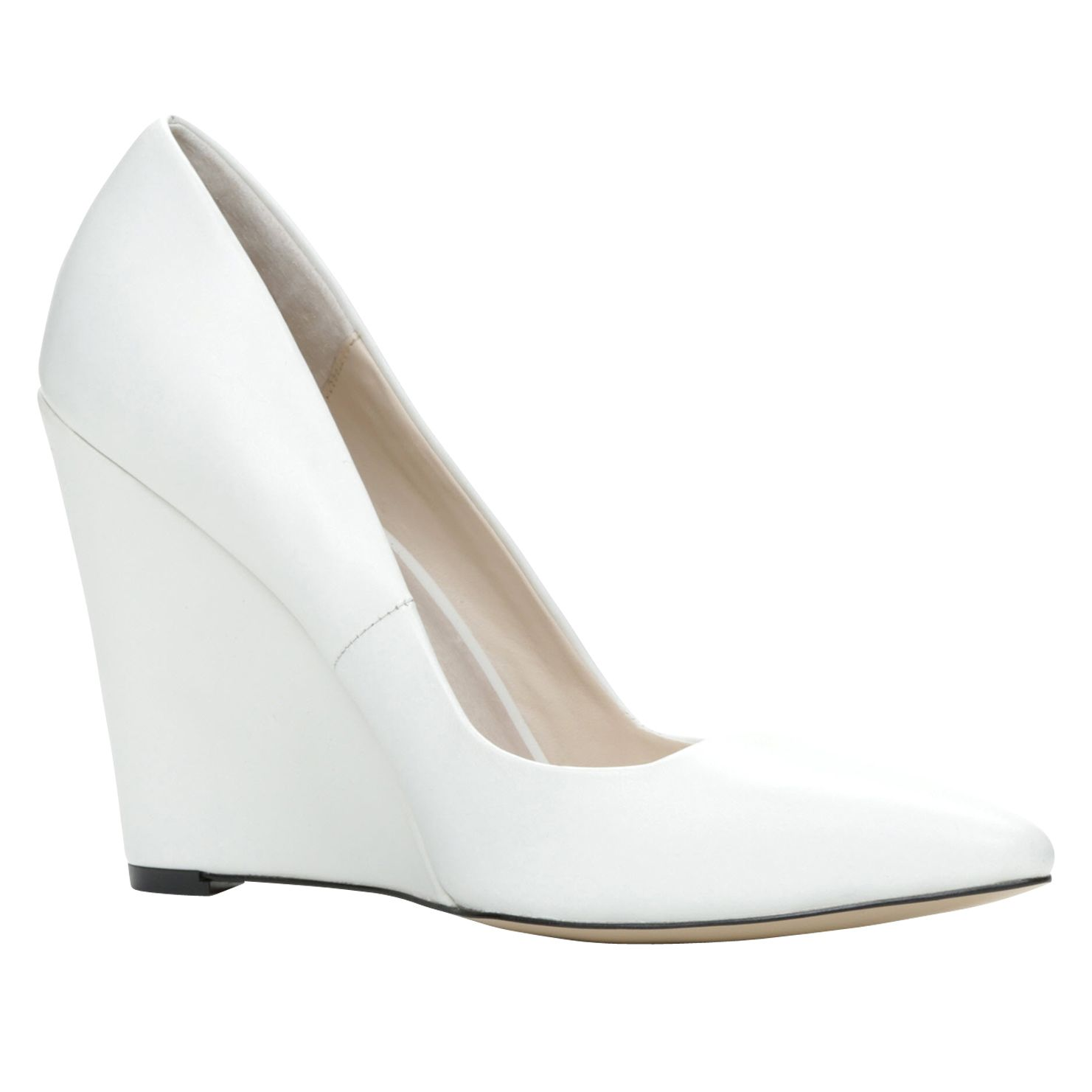 Cirrito pointed toe wedge court shoes