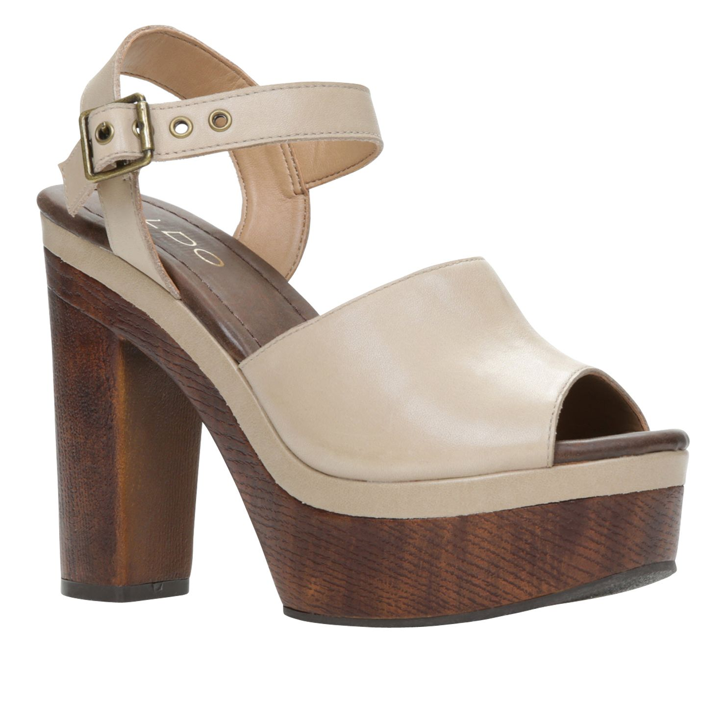 Ybirwen wedge peep toe high heel sandals