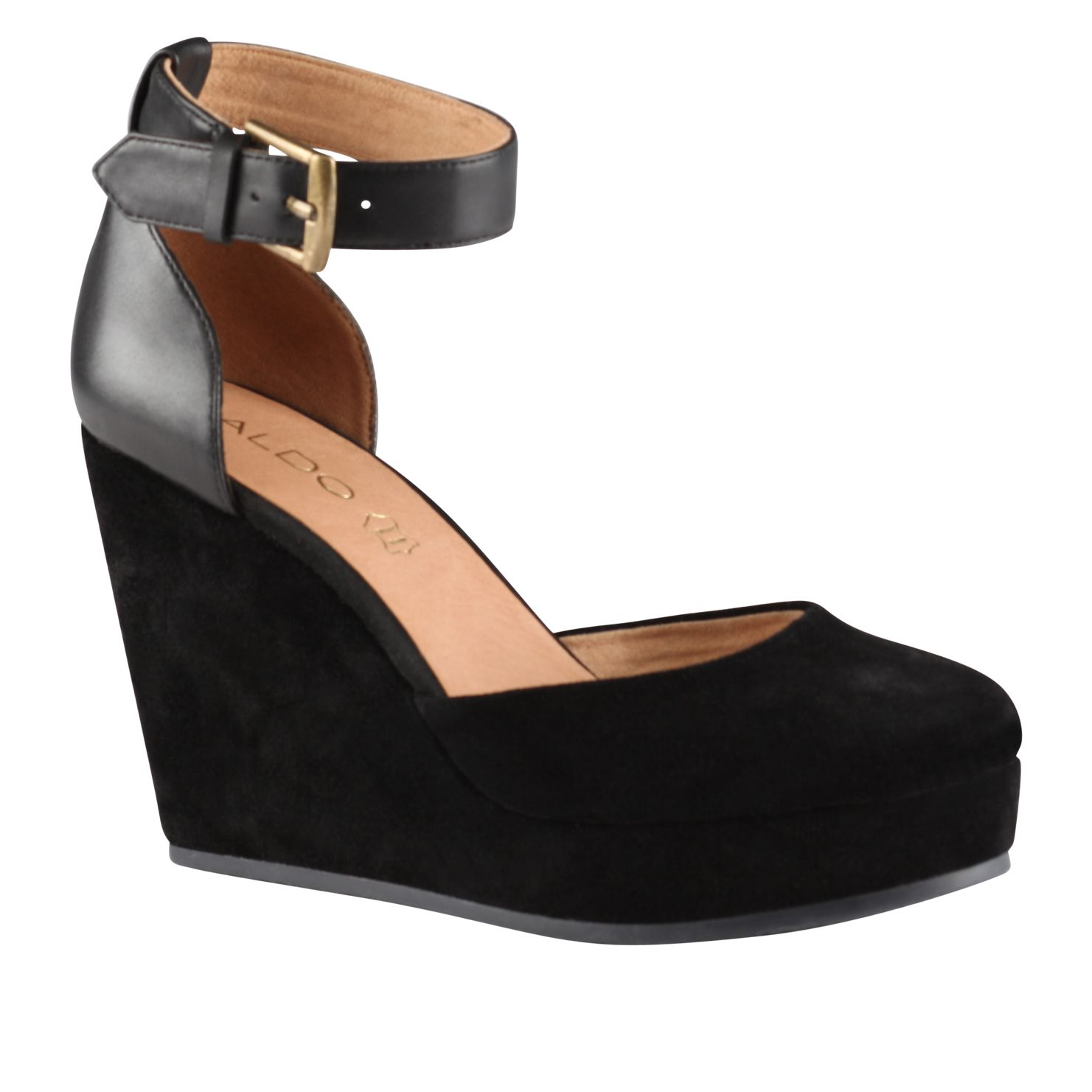Trelli almond toe wedge shoes