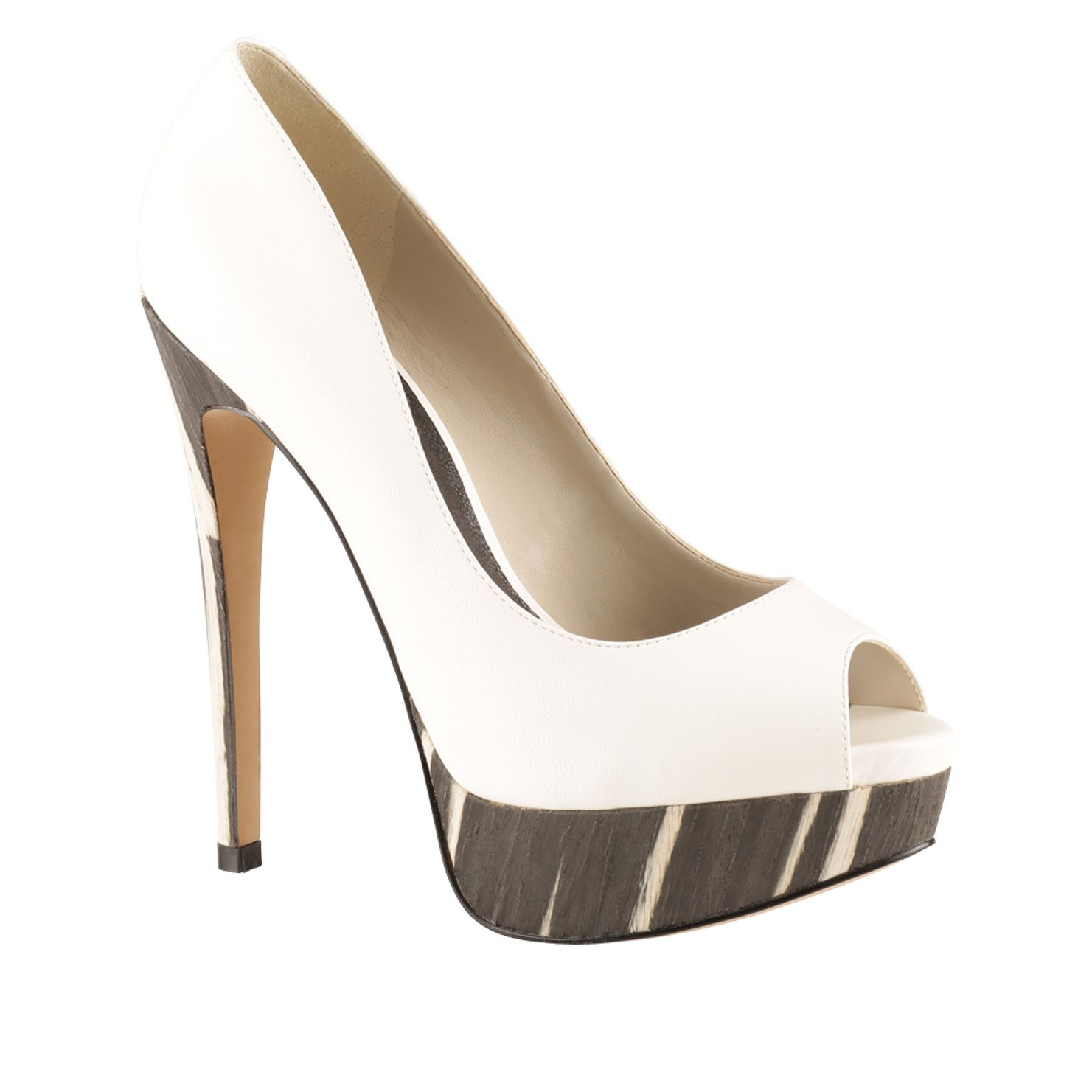 Jakoubek peep toe platform court shoes