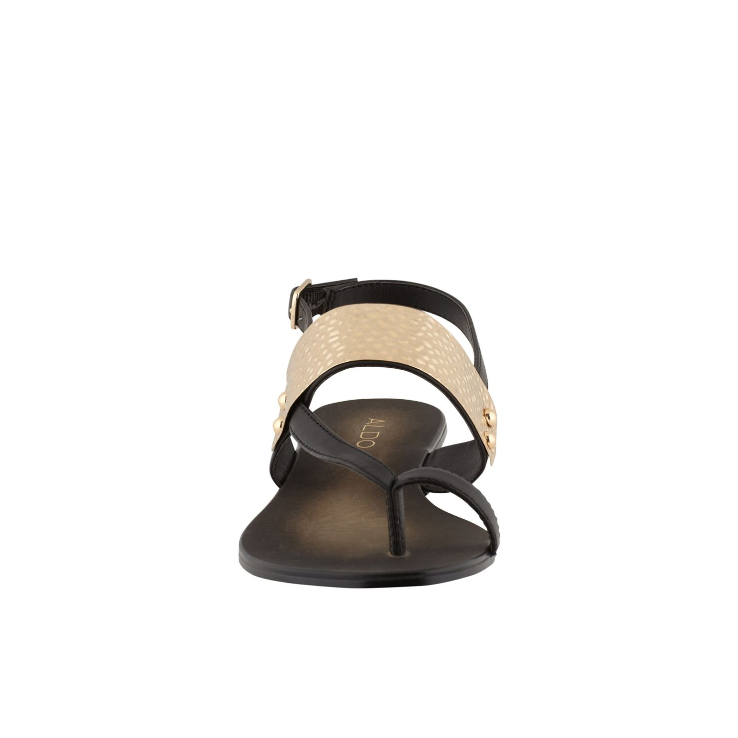 Dolea gold plate detail sandals